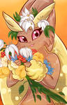 Prima with flowers by PlatinaSena