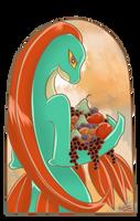 Grovyle and fruits by PlatinaSena