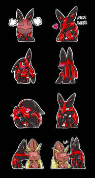 Commission- Shadow Sticker Pack 2