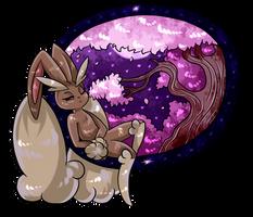 Sleepy and cherry blossom- kofi gift