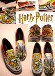 HARRY POTTER SHOES by artsyfartsyness