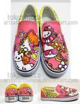 Hello Kitty Shoes by artsyfartsyness