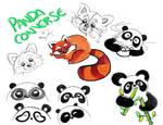Panda Converse Concept Sketches by artsyfartsyness