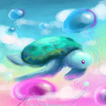 turtle dreams speedpaint by artsyfartsyness