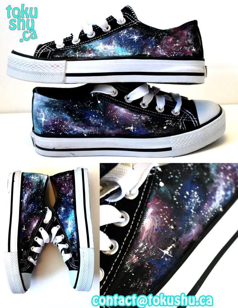Galaxy Shoes by artsyfartsyness