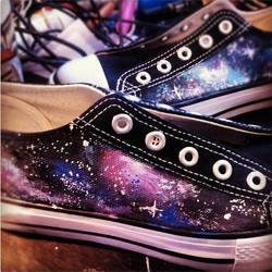 WIP - Galaxy Shoes by artsyfartsyness