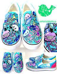 Jellyfish Shoes - Blue by artsyfartsyness