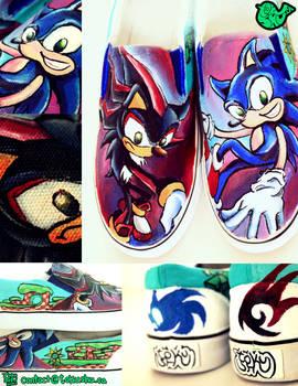 Sonic Shoes by artsyfartsyness