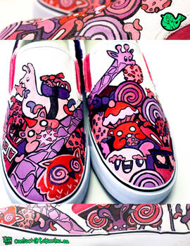 Cookies and Creatures Shoes by artsyfartsyness