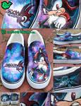 Shadow the Hedgehog Shoes by artsyfartsyness