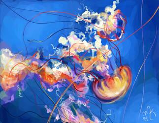 Jellyfish Speedpaint by artsyfartsyness