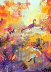 My Dinosaur Dream by artsyfartsyness