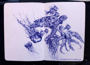 Turtle Ballpoint Pen Sketch by artsyfartsyness