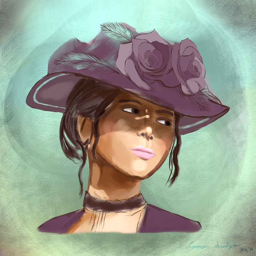 Purple Hat Portrait by Switzer2007