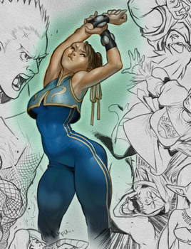 Drawing 1 + Color, Chun Li