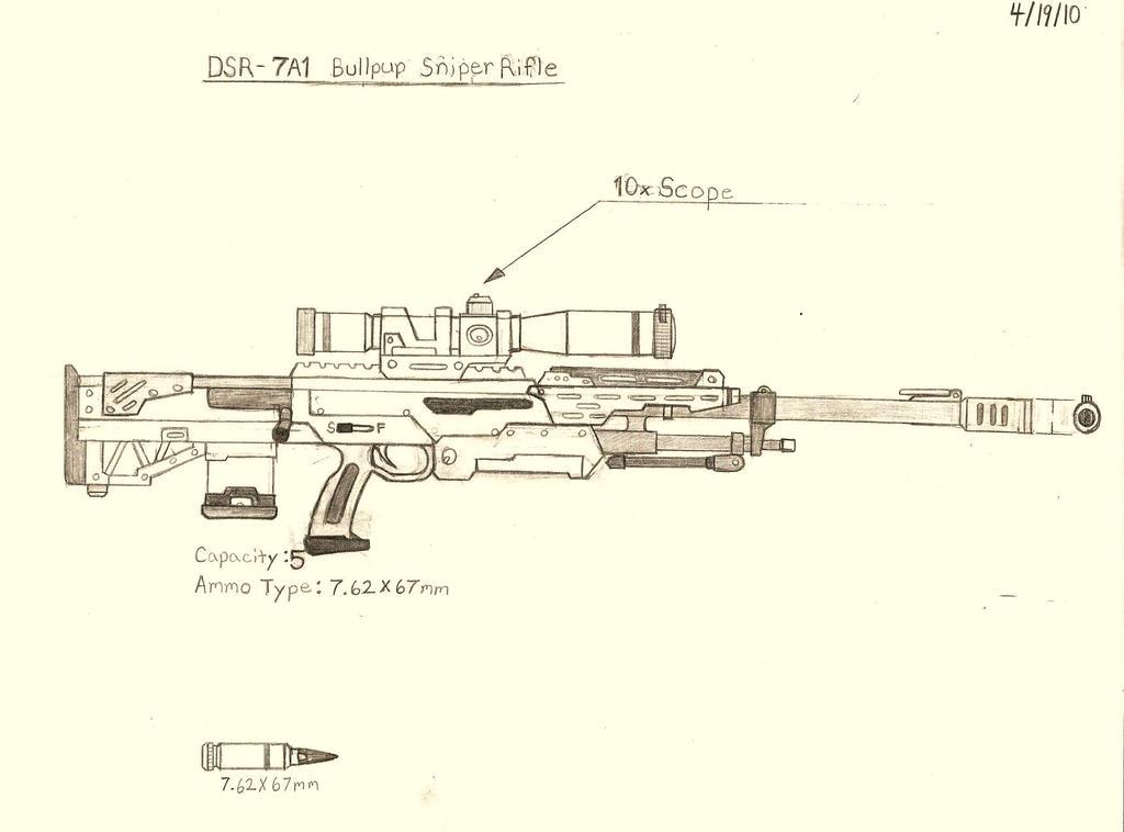 DSR - 7A1 Bullpup Sniper Rifle by RedW0lf777sg