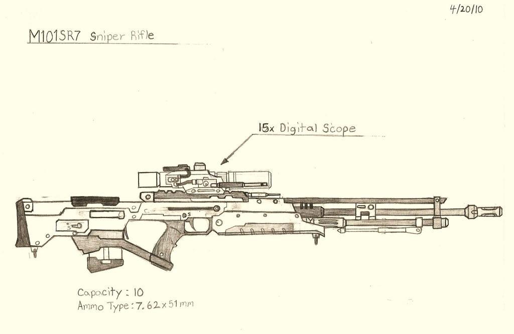 M101SR7 Semi Auto Bullpup Sniper Rife by RedW0lf777sg