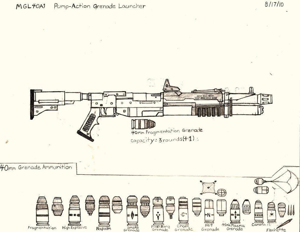 M125 Pump Action Grenade Launcher by RedW0lf777sg on DeviantArt
