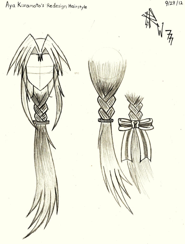 Aya 39 S Redesign Hairstyle Rough Draft Drawing By Redw0lf777sg On Deviantart