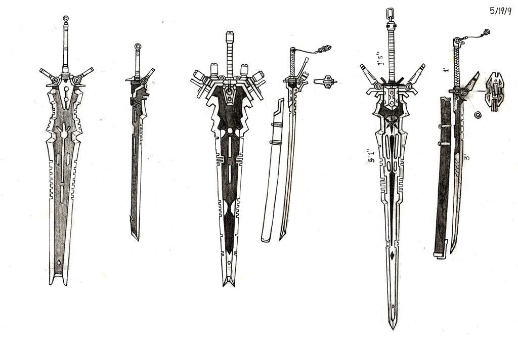 Weapon Upgrades Part I (Swords) by RedW0lf777sg on DeviantArt