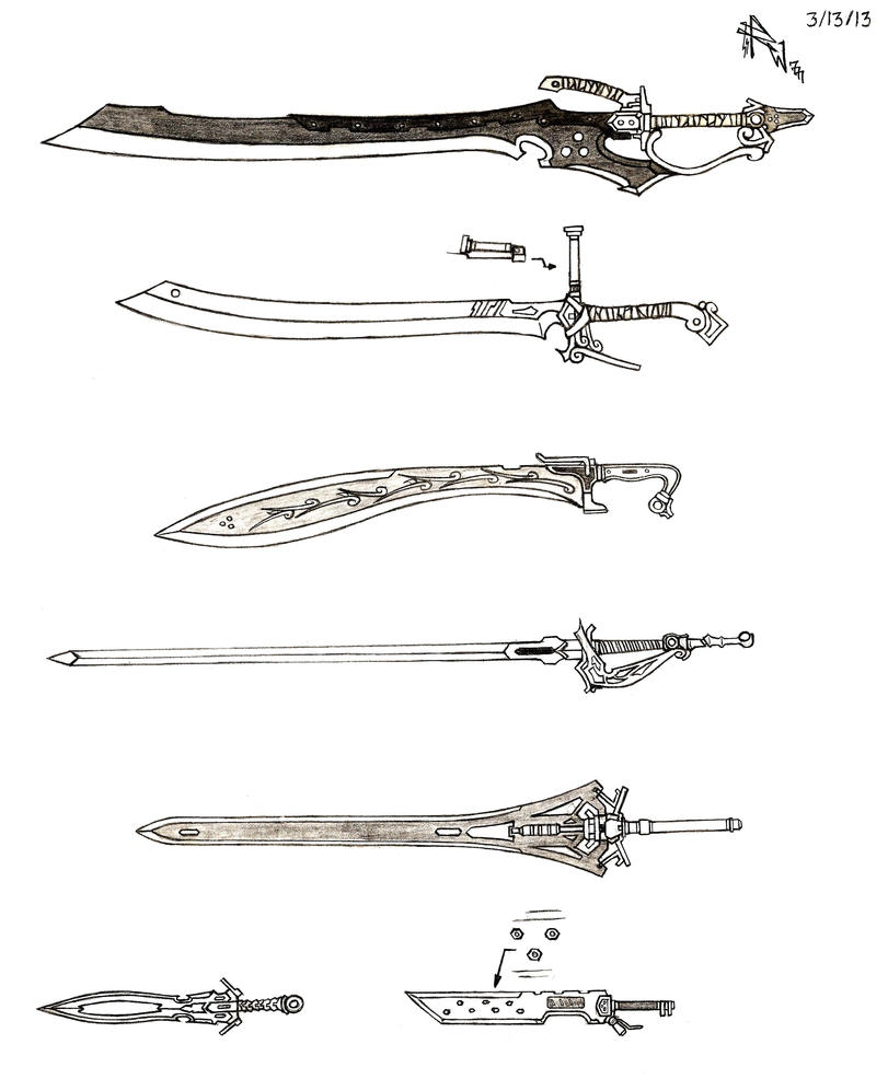 Weapon Concept Art: Sword (Part III) by RedW0lf777sg