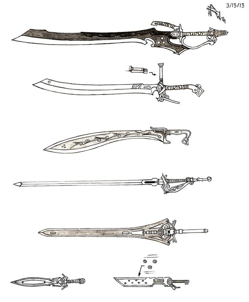 Weapon Concept Art: Sword (Part III) by RedW0lf777sg
