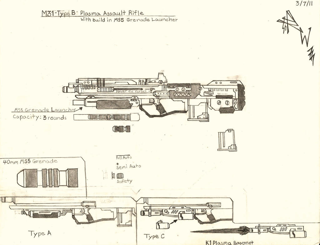 M31 Plasma Assault Rifle by RedW0lf777sg
