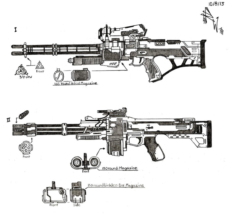 Weapon Concept: Heavy Rifles by RedW0lf777sg