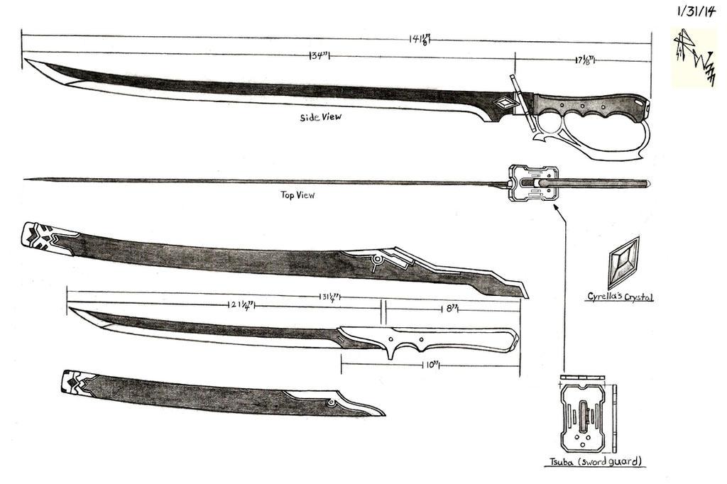 Cyrellas Katana Style Saber And Short Sword By