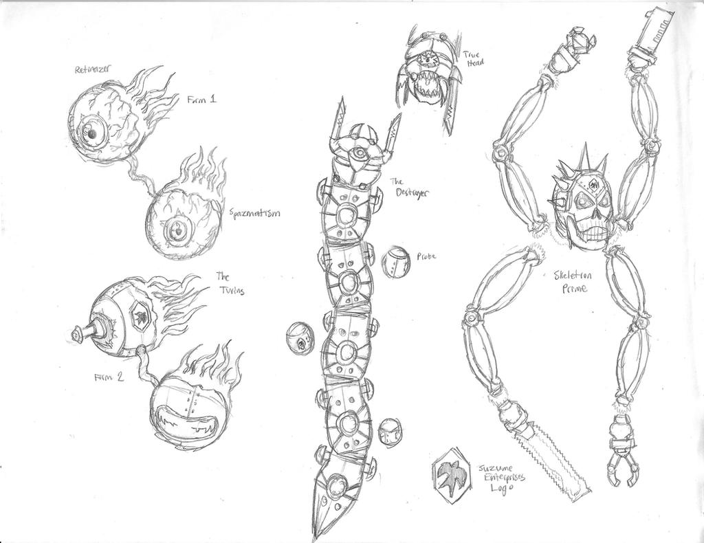 terraria  mechanical bosses by dwestmoore on deviantart