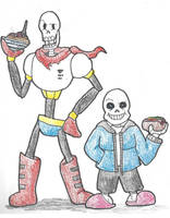 Undertale: Papyrus and Sans by DWestmoore