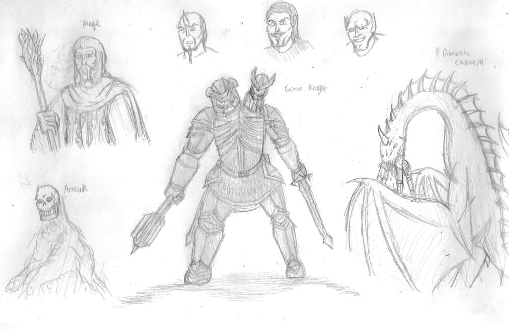Fantasy Doodles 12