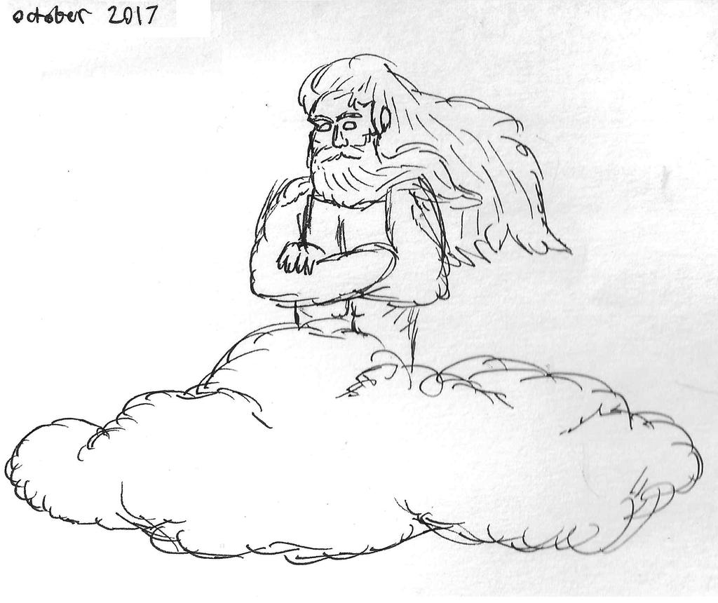 Inktober 2017: Day 19: Cloud