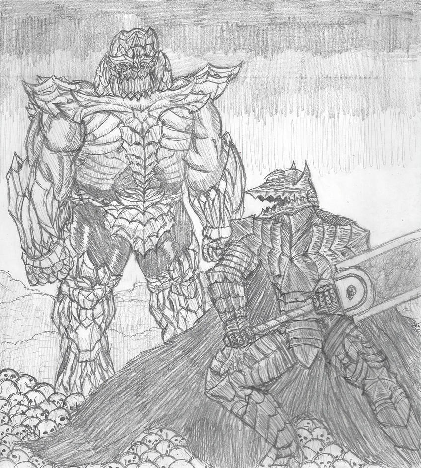 berserk_guts_vs_poison_thanos_by_dwestmo