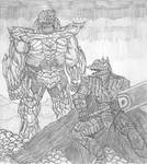 Berserk Guts vs Poison Thanos