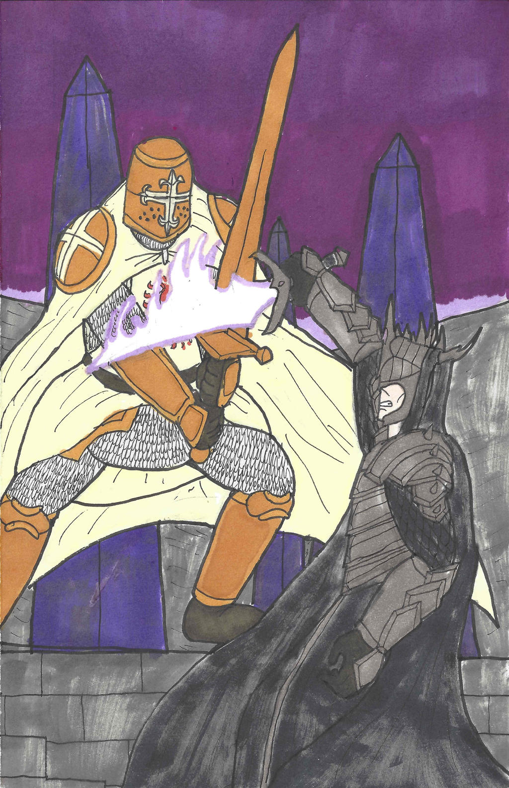 Lord-Commander Verners vs the Witch-King of Grail