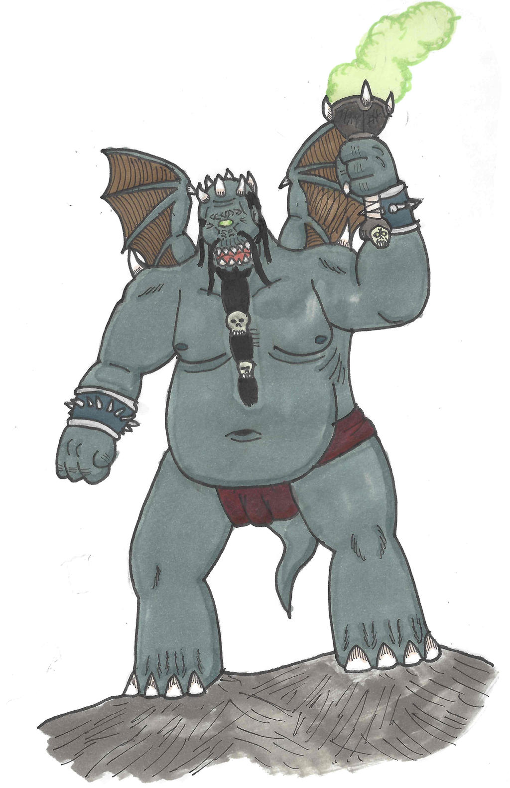 Fantasy Doodles 50 #2: Orcus
