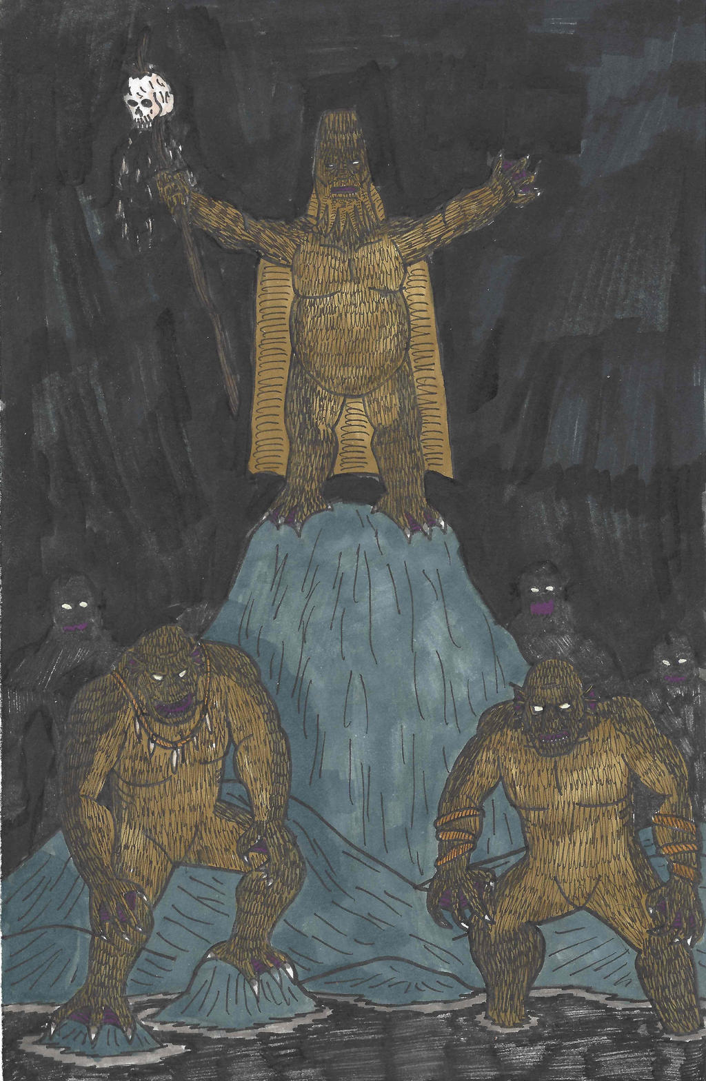 Fantasy Doodles 50 #3: Sea Monks