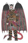 Fantasy Doodles 50 #4: Half-Demon of Pride