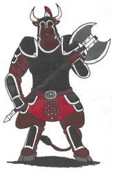 Minotaur Warrior by DWestmoore