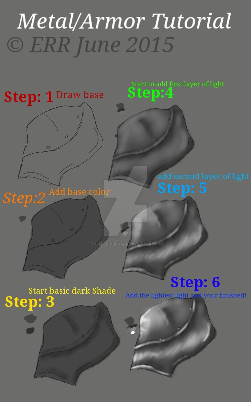 metal armor tutorial by valsparindragon on deviantart