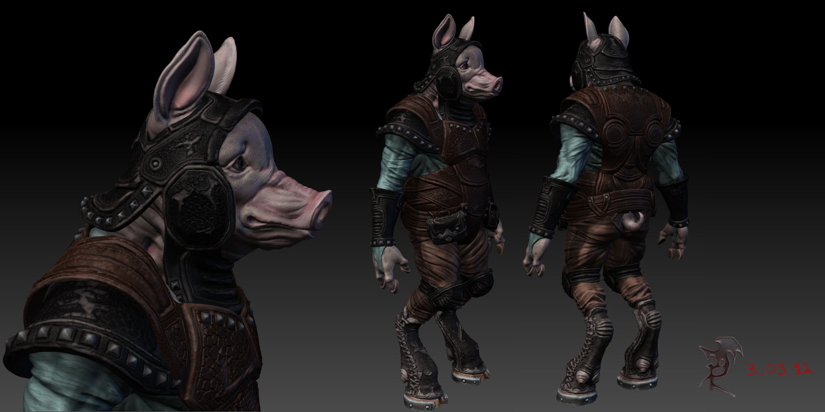 Pig guardian - highpoly w.i.p by DeckardX08