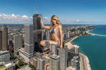 Samantha Hoopes - Posing with the tallest towers