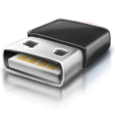 Black Flash Drive Icon by ihateyouare