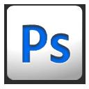 White-Blue Photoshop icon by ihateyouare