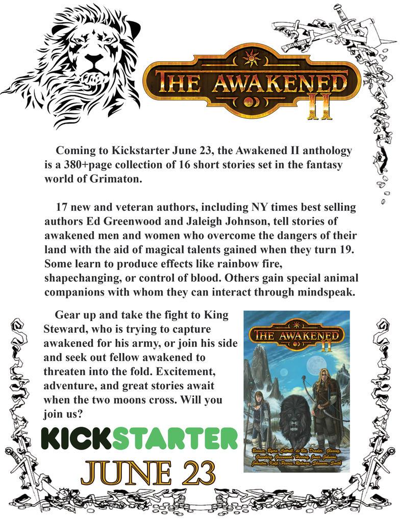 The Awakened II Kickstarter Live through 7/23/2016 by mnorthwinter