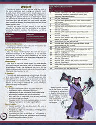 New Class for Pathfinder 2nd Edition - The Warlock