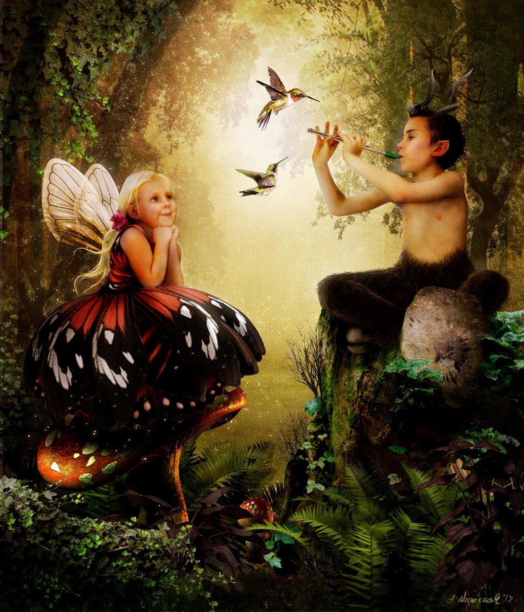 Satyr Boy and Little Fairy