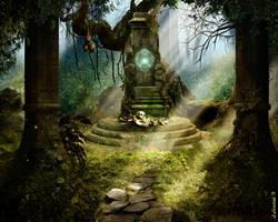Forest Altar by sekiq