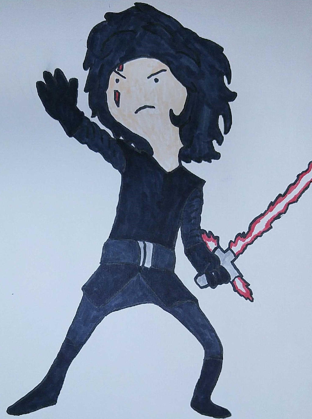 Kylo Ren in adventure time style by Ncid